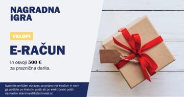 Prijavite se na e-račun in osvojite 500 € za praznična darila