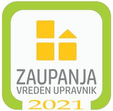 Znova smo pridobili certifikat Zaupanja vreden upravnik (2021)